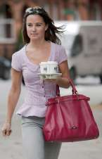 Pippa Middleton with coffee