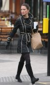 Pippa Middleton with coffee and boots