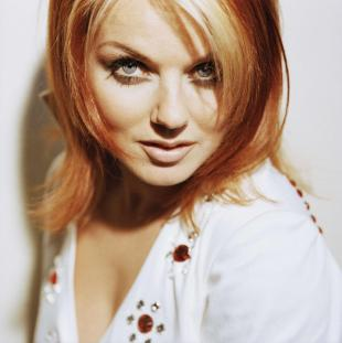 A close up picture of Spice Girl Geri Halliwell