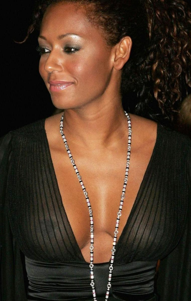 A close up picture of Spice Girl Melanie Brown