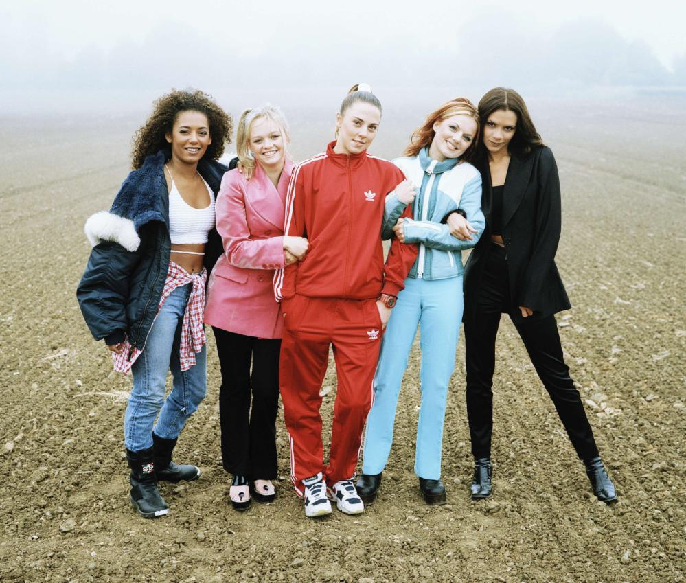 The 5 spice girls. As they were, 16 years ago.