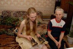 Nadya Vall and her grandmother