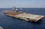 Sinking aircraft carrier