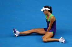 Ana Ivanovic sitting