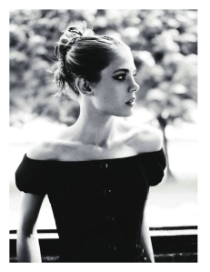 Charlotte Casiraghi for Vogue in Black