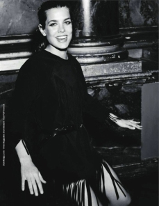 Charlotte Casiraghi Vogue Black
