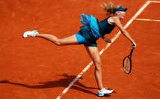 Maria Sharapova playing