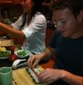 Mark Zuckerberg and Priscilla Chan sushi