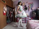 Mexican Lolita in her room