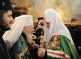 Patriarch Kirill and Patriarch Maxim