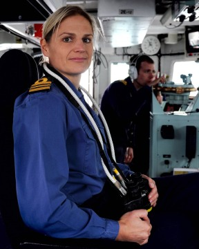 Sarah West, Commander of HMS Portland