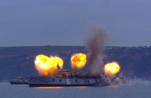 Royal Navy Scylla sinking