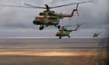 Russian rescue service choppers