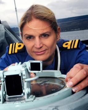 Royal Navy Commander Sarah West