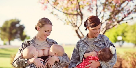 Breast-feeding officers