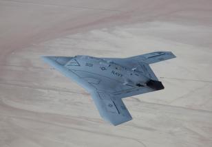 Flying stealth drone X47B