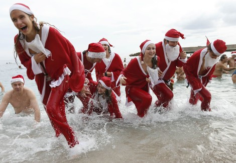 People running away from Christmas?