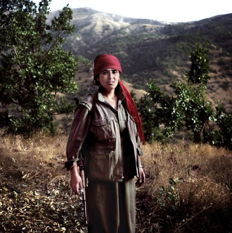 Kurdish Female Fighters red
