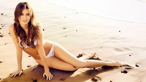 Summer Glau bikini beach
