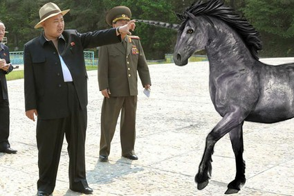 Kim Jon-un and the unicorn