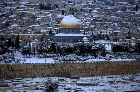 Mount of Olives Snow