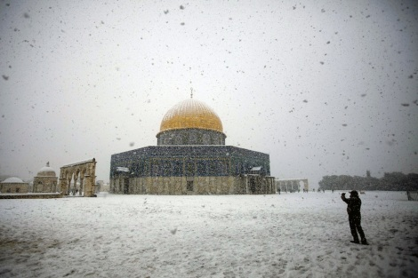 Dome of the Rock Snow