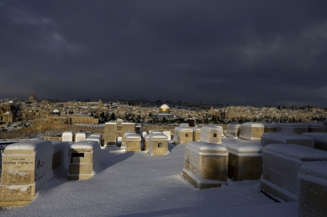 Snow over Jerusalem