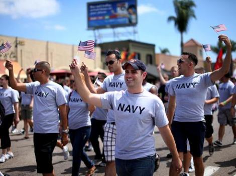 "US Soldiers could participate openly at the Gay Pride, after President Obama repealed ""Don't ask, don't tell"". Hopefully the Catholic Church will take the same decision for its clergy."
