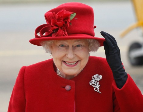 Queen Elizabeth II Visits RAF Valley