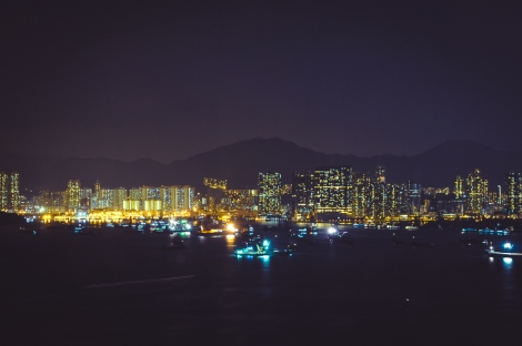 Kowloon, Hong Kong, view from our hotel room
