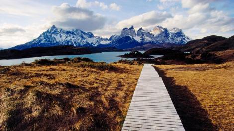 Walkway, Torres del Paine, Chile