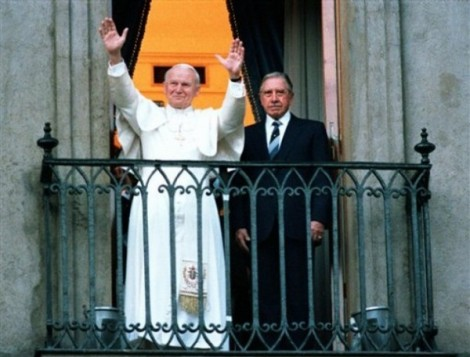 Best friends. Augusto Pinochet and Karol Wojtyla.