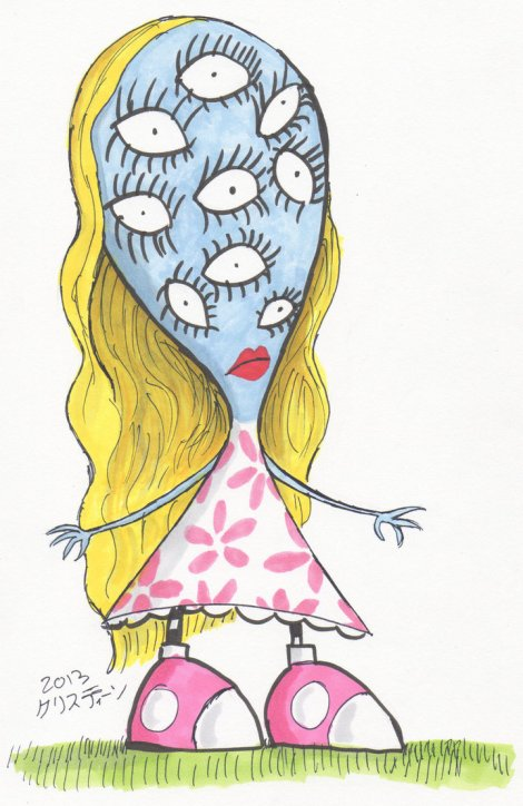 Tim Burton's girl with many eyes.