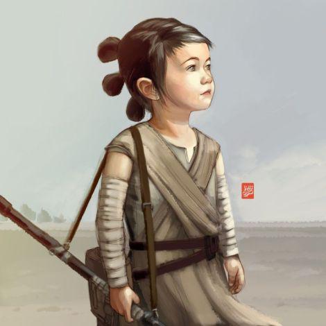 Rey Child Jedi